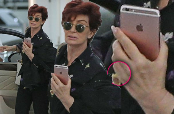 sharon osbourne ozzy osbourne divorce not wearing wedding ring