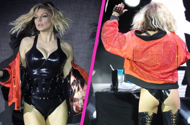 fergie butt latex bodysuit pics