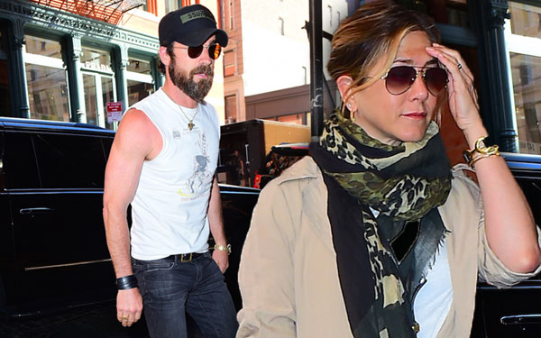 Jennifer Aniston Pregnant Justin Theroux Pics 1