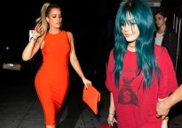 Khloe Kardashian Weight Loss Tight Orange Dress