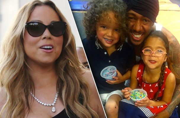 mariah carey nick cannon fathers day divorce papers freestyle rap instagram pics