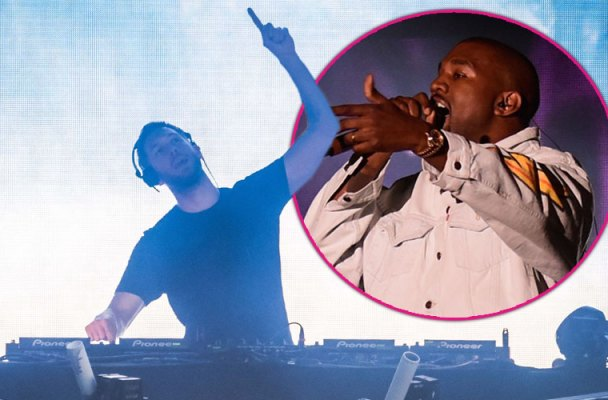 Calvin harris making music kanye west