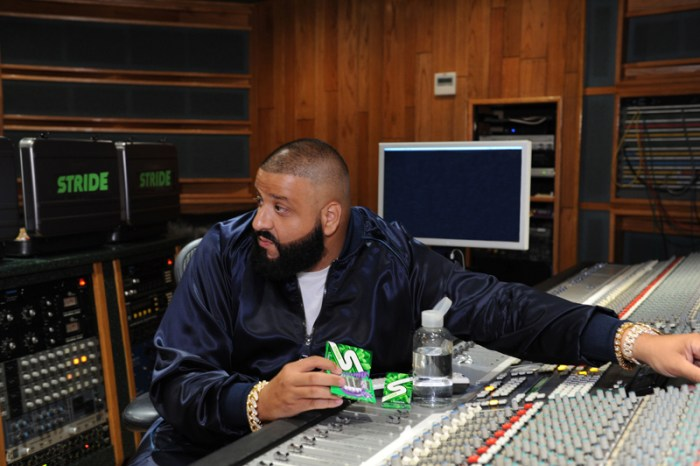 DJ Khaled Chews All-New Stride Gum Charged with Crunch Reactors While Laying Down A Track