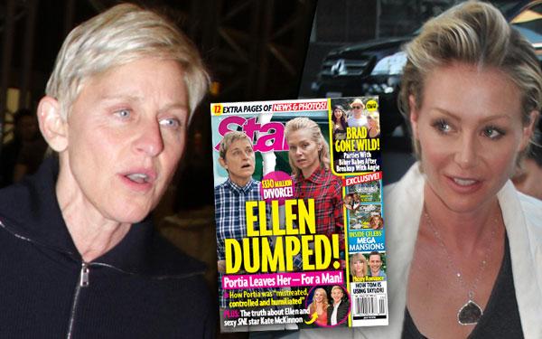 Ellen DeGeneres Dumped Wife Portia De Rossi Divorce Scandal Pics 2