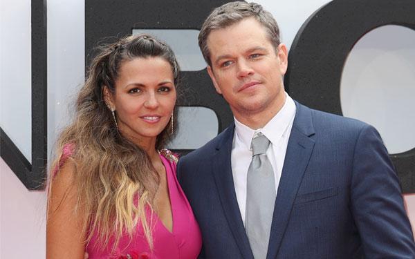 Matt Damon Wife Luciana Marriage Problems Red Carpet Jason Bourne Premiere Pics 5