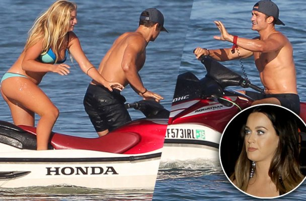 Orlando Bloom Jet Skiing Mystery Women Malibu Pics 2