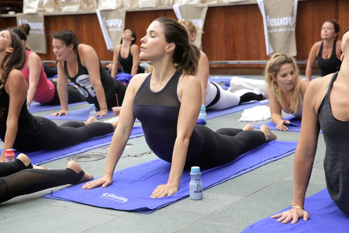 Sophia Bush Strikes a Pose at the Lifeway Foods Sun SalutationYogaEvent