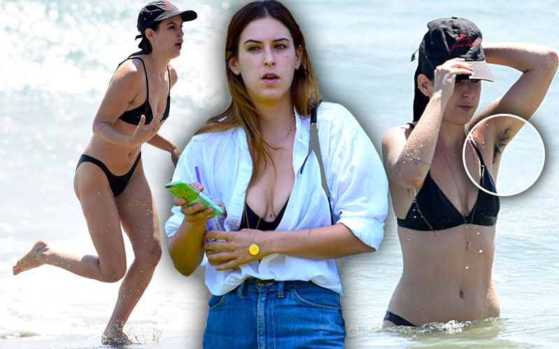 No Shame! Scout Willis Caught Taking A Dip In The Pacific
