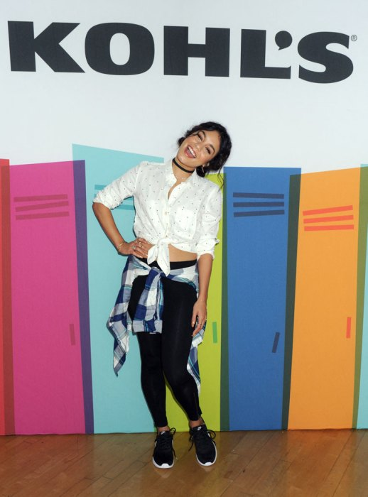 Kohl's And Vanessa Hudgens Kick Off School Year With Free Shoes For Entire Student Body At LosAngelesSchool
