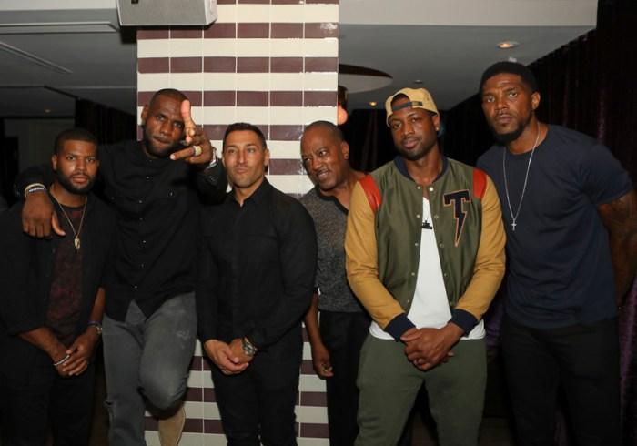 David Alexander, Dwayne Wade, LeBron James, Udonis Haslem atByblosMiami2