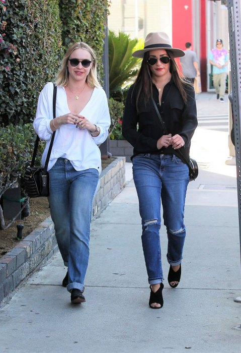 Lea Michele and a friend are seen shopping in west Hollywood