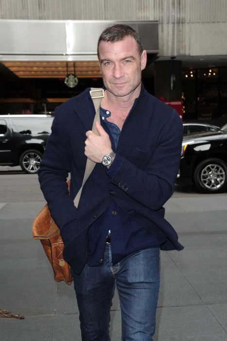 Liev Schreiber Arriving At The Booth Theatre