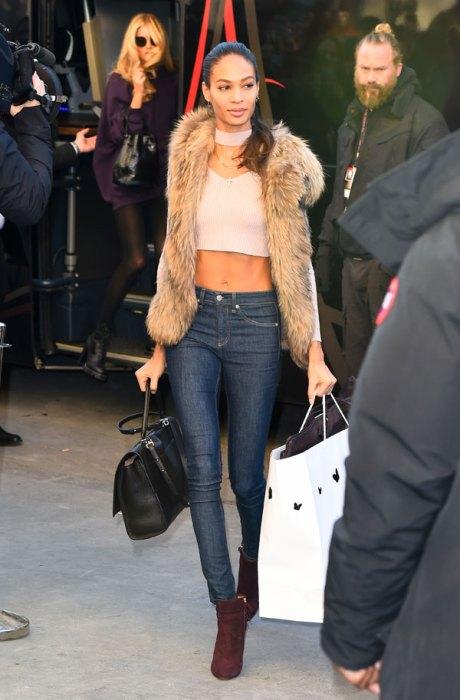 The Victoria Secret Angels arrive at the Grand PalaisinParis