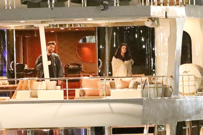 *PREMIUM EXCLUSIVE* The Weeknd and Selena Gomez take their new love to high seas! **MUST CALL FOR PRICING**