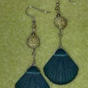 Edisto Beach Sand Pearls and Sea Glass Earrings