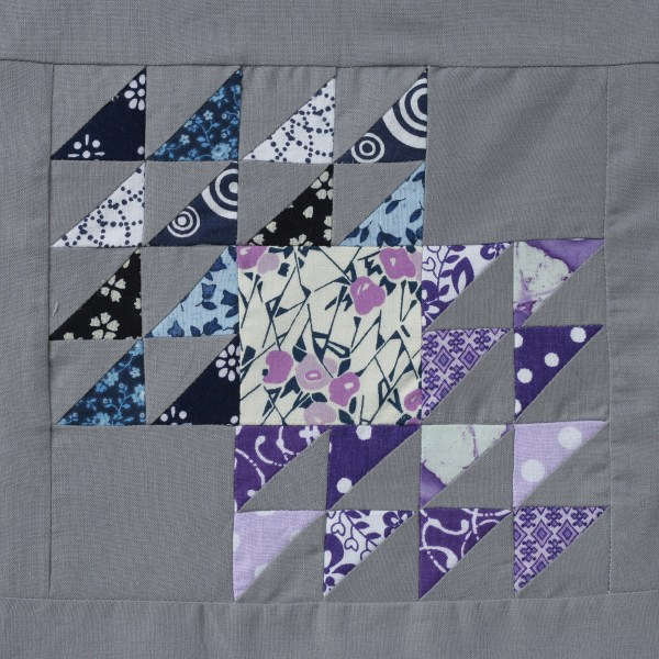 Color Gradient Winged Square Quilt Block