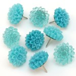 Resin Flower Thumbtacks