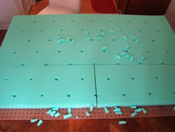 DIY Tufted Headboard Foam Holes
