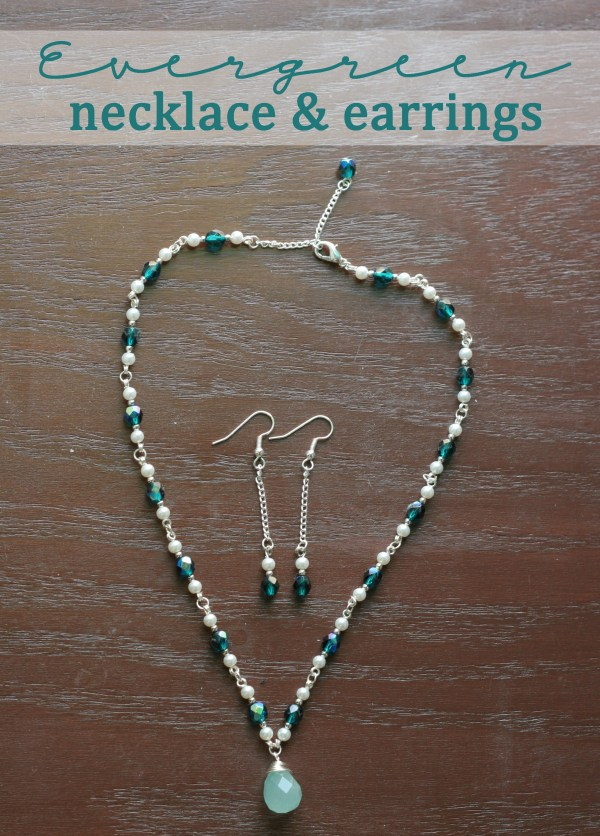 Evergreen Necklace and Earrings
