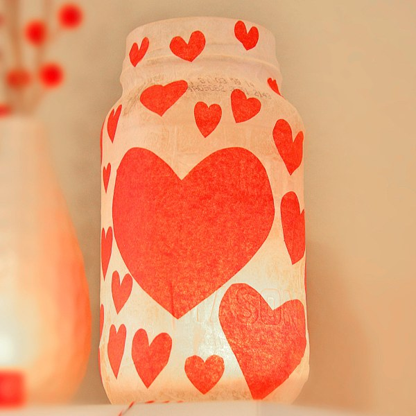 Tissue Paper Candle Holder