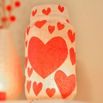 Tissue Paper Heart Jar