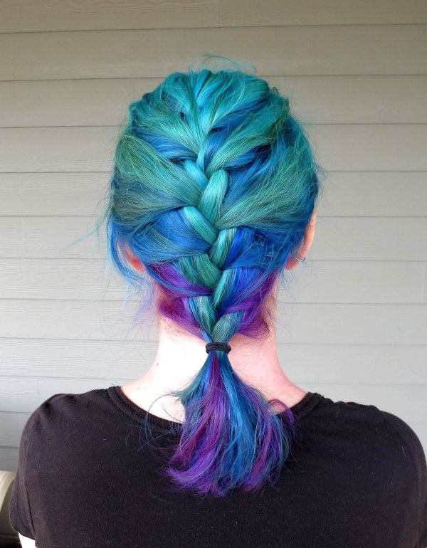 Blue Hair Braid