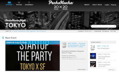 Startup the party on Pechakucha official