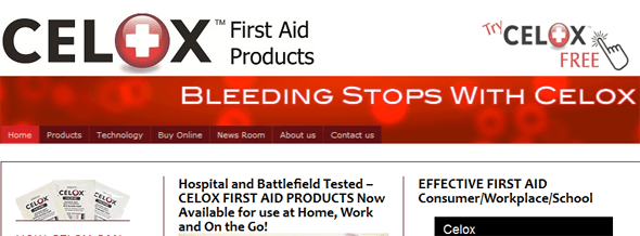 Celox - Stops Bleeding - Startup Featured on Startuplift