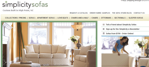 Charming Simplicity_Sofas   Startup Featured On StartUpLift. Simplicity Sofas ...
