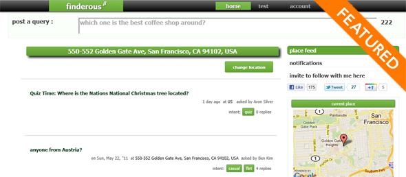 Findero.us startup featured on startuplift
