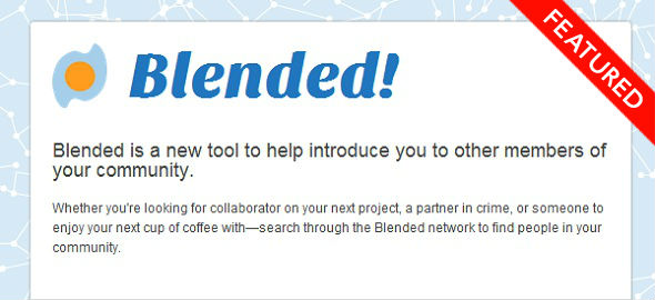 Blended - startup Featured on StartUpLift for Startup Feedback and Website Feedback
