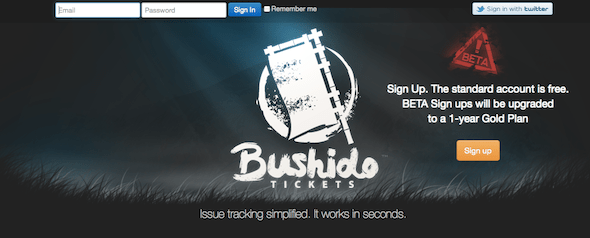 BushidoTickets- Startup Featured on StartUpLift for startup feedback and website feedback