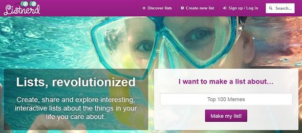 listnerd - startup featured on StartUpLift for startup feedback and website feedback