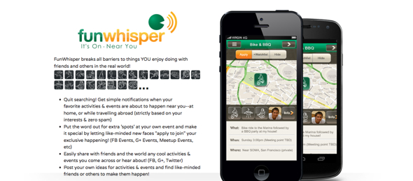 funwhisper - startup featured on StartUpLift for website feedback and usability feedback