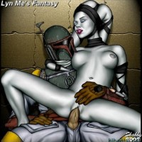 Famous bounty hunter likes to have some rest after mission by fucking naked twi'lek slut