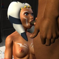 Ahsoka Tano always wanted to taste big black cock... and Windu is always ready to help this young padawan!