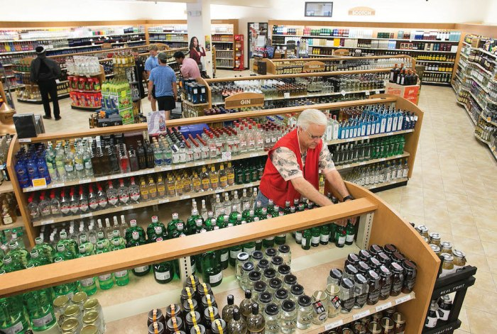The interior of the North Carolina ABC Store in Cameron Village shopping center in Raleigh, N.C. on Thursday, August 18, 2016.