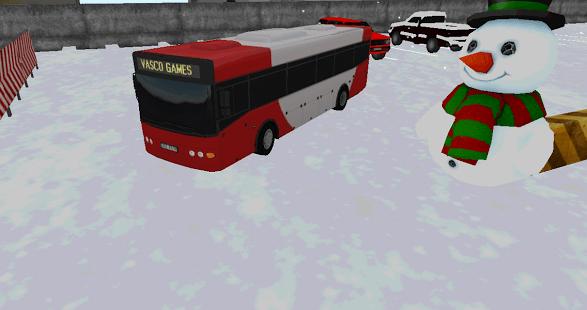 Bus winter parking - 3D game
