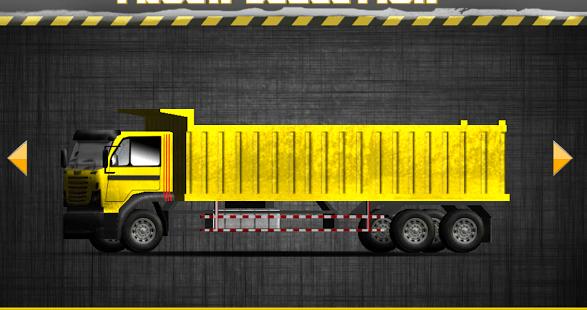 Heavy dump truck 3D parking