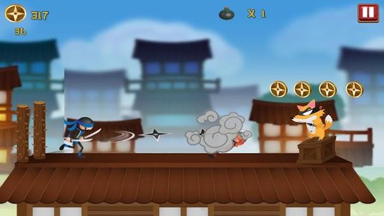 Stickman Ninja Rooftop Run