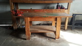 Workbench with Vice