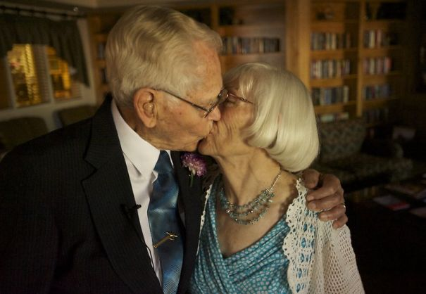 John Deurwaarder, 97 And Alta Lunsford, 78 Both Widowed, Dated For Five Months Before Marriage