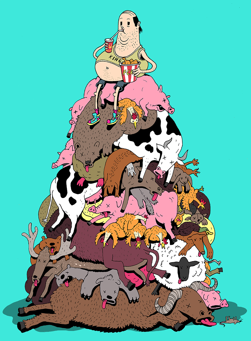 współczesne światowe karykatura-ilustracje-steve-Cutts-10
