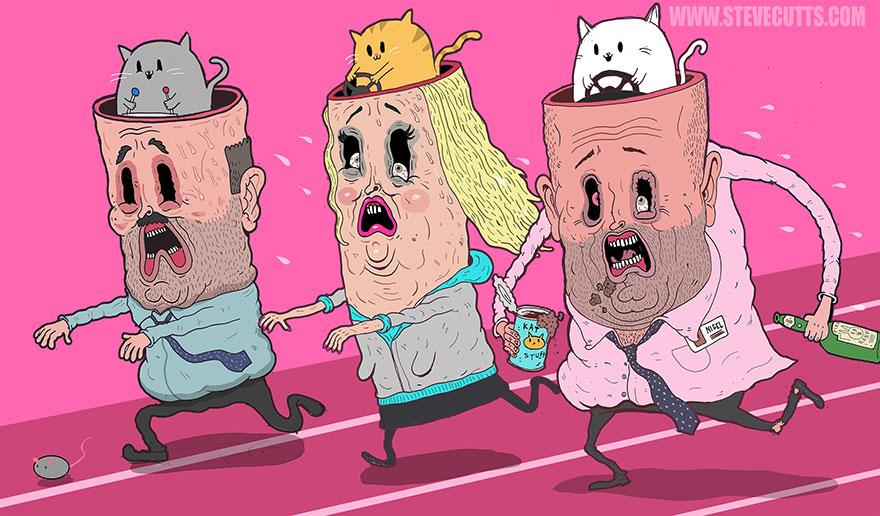 współczesne światowe karykatura-ilustracje-steve-Cutts-13