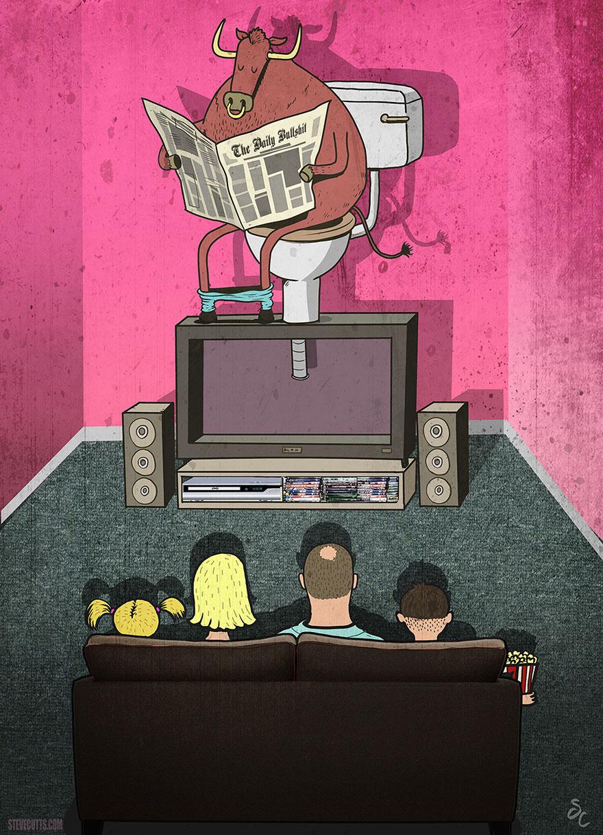 współczesne światowe karykatura-ilustracje-steve-Cutts-16