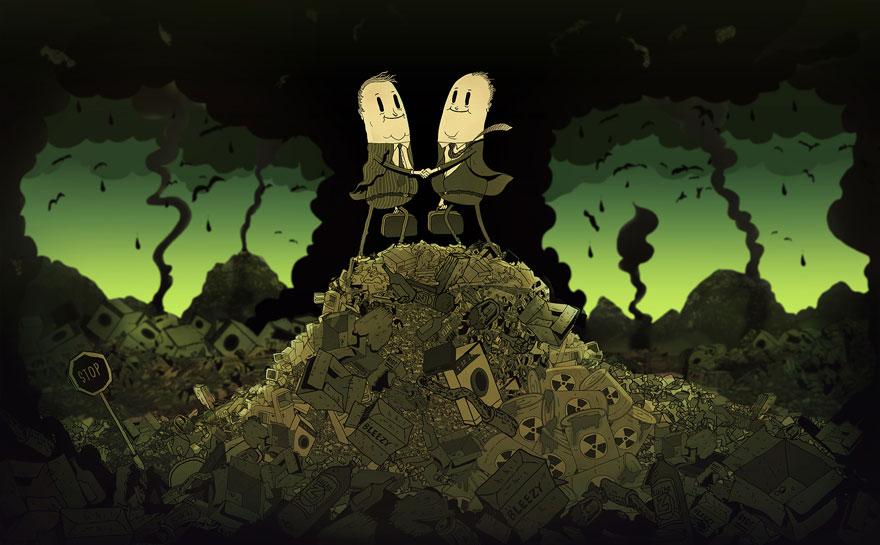 współczesne światowe karykatura-ilustracje-steve-Cutts-8