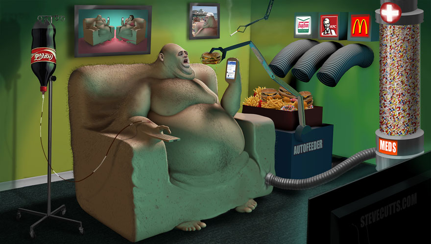 współczesne światowe karykatura-ilustracje-steve-Cutts-9