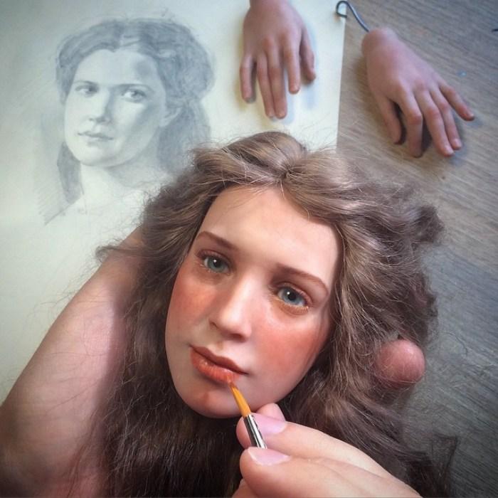 realistyczne twarze lalek-polimer-glinka-michael-zajkov-17