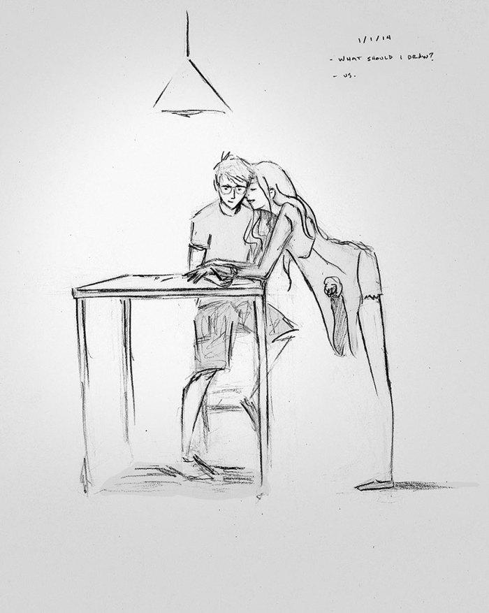 - Co mam narysować? - Us