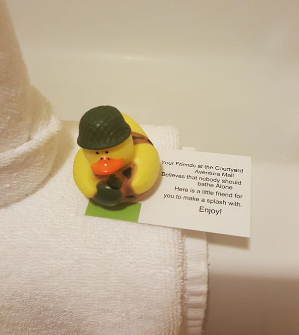 My Hotel Gives You A Rubber Ducky